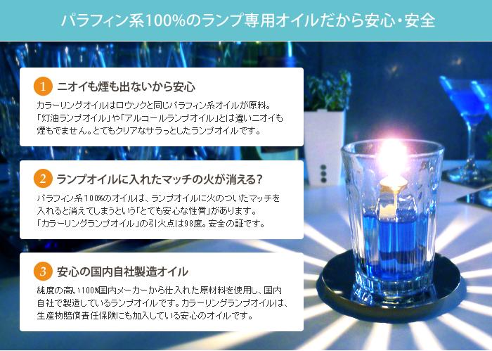 オイルランプ専用カラーリングオイル ミニボトル 特徴